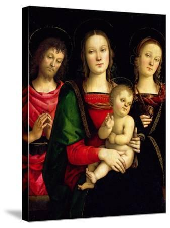 The Madonna and Child with St. John the Baptist and St. Catherine of Alexandria-Perugino-Stretched Canvas Print