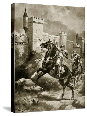The Siege of Chaluz, Illustration from 'Hutchinson's Story of the British Nation', C.1920-Henry Payne-Stretched Canvas Print
