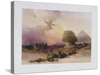 Approach of the Simoom. Desert of Gizeh, from 'Egypt and Nubia)-David Roberts-Stretched Canvas Print