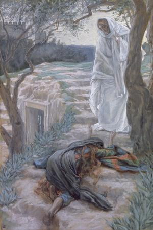 Noli Me Tangere, Illustration for 'The Life of Christ', C.1884-96-James Tissot-Stretched Canvas Print