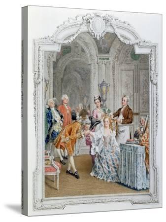 The Toilette, Illustration from 'La Vie Parisienne', C.1890-Maurice Leloir-Stretched Canvas Print
