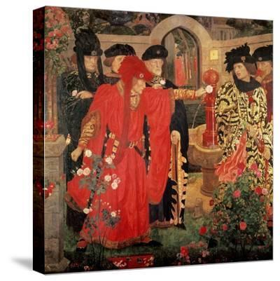 Choosing the Red and White Roses in the Temple Garden, 1910-Henry Payne-Stretched Canvas Print