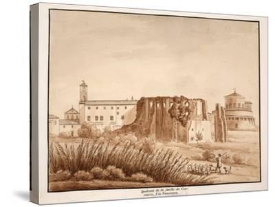 Hippodrome of the Family of Constantine, Via Nomentana, 1833-Agostino Tofanelli-Stretched Canvas Print