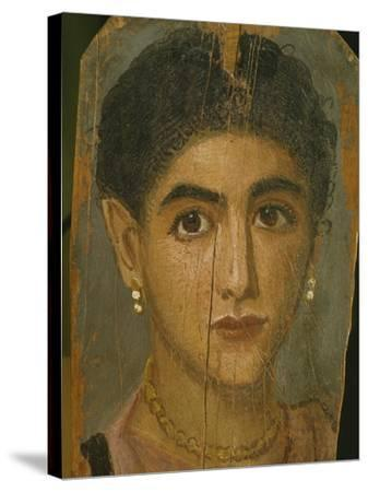 Female Mummy Portrait, from Thebes, 2nd Century-Roman Period Egyptian-Stretched Canvas Print