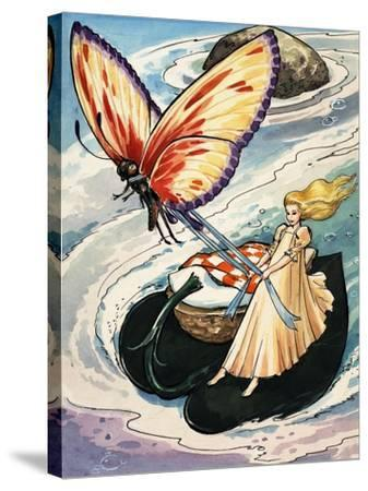 Thumbelina, from the Fun in Toyland Annual, 1959-Nadir Quinto-Stretched Canvas Print