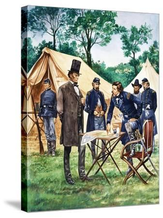 When They Were Young: Abraham Lincoln-Peter Jackson-Stretched Canvas Print
