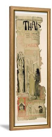 Poster Advertising 'Thais', C.1895-Manuel Orazi-Framed Stretched Canvas Print