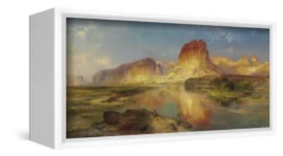 Green River of Wyoming, 1878-Moran-Framed Stretched Canvas Print