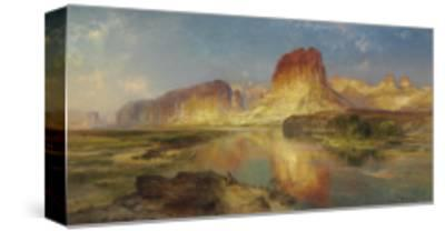 Green River of Wyoming, 1878-Moran-Stretched Canvas Print
