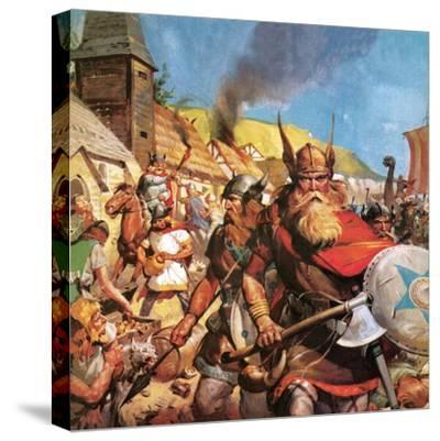 The Vikings: the Sea-Warriors-English School-Stretched Canvas Print
