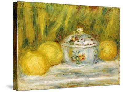 Sugar Bowl and Lemons, 1915-Pierre-Auguste Renoir-Stretched Canvas Print