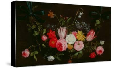 Tulips, Peonies and Butterflies-Jan Van, The Elder Kessel-Stretched Canvas Print
