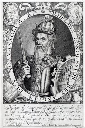 William the Conqueror, 1618-Renold Elstrack-Stretched Canvas Print