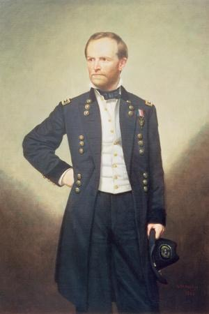 General William Sherman-George Peter Alexander Healy-Stretched Canvas Print