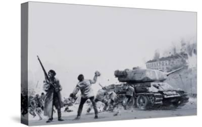 Hungarian Uprising of 1956-Graham Coton-Stretched Canvas Print