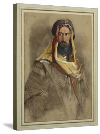 Study of an Arab Sheikh-John Frederick Lewis-Stretched Canvas Print