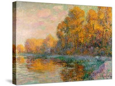 A River in Autumn, 1909-Gustave Loiseau-Stretched Canvas Print