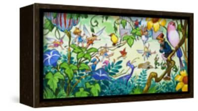 Fairies in the Garden-Jose Ortiz-Framed Stretched Canvas Print