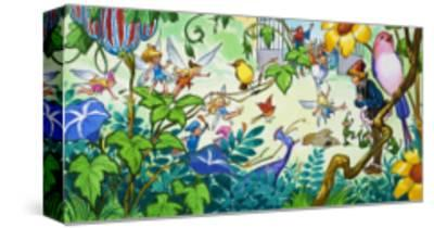 Fairies in the Garden-Jose Ortiz-Stretched Canvas Print