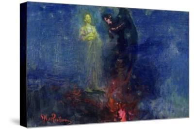 Get Thee Hence, Satan!-Ilya Efimovich Repin-Stretched Canvas Print