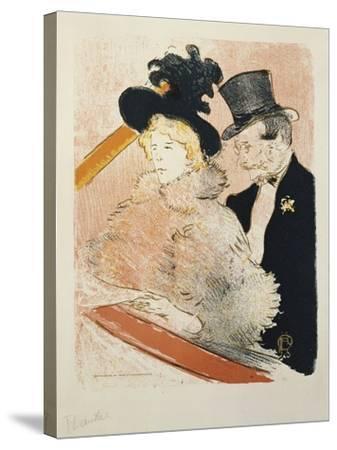 At the Concert, 1896-Henri de Toulouse-Lautrec-Stretched Canvas Print