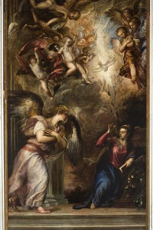 The Annunciation-Titian (Tiziano Vecelli)-Stretched Canvas Print