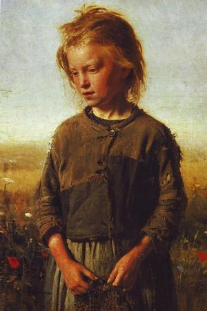 Fisher Girl, 1874-Ilya Efimovich Repin-Stretched Canvas Print