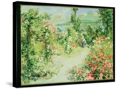 The Conservatory-Pierre-Auguste Renoir-Stretched Canvas Print