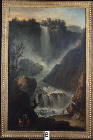 The Falls of Terni-Claude Joseph Vernet-Stretched Canvas Print