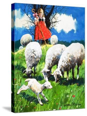 Little Bo Peep-Jesus Blasco-Stretched Canvas Print
