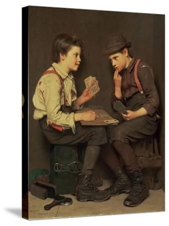 The Little Joker-John George Brown-Stretched Canvas Print