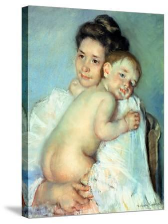 The Young Mother-Mary Cassatt-Stretched Canvas Print