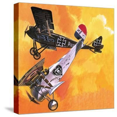 Nieuport 24 Bis-Wilf Hardy-Stretched Canvas Print