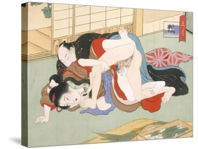 Couple Having Sex-Japanese School-Stretched Canvas Print