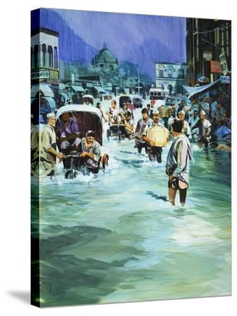 Indian Monsoon-Gerry Wood-Stretched Canvas Print