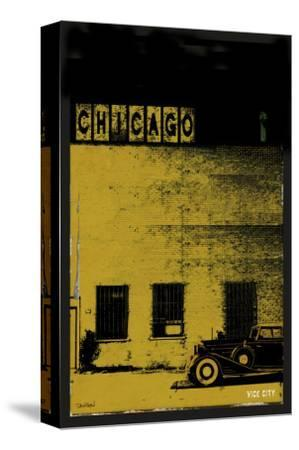 Vice City - Chicago grey-Pascal Normand-Stretched Canvas Print