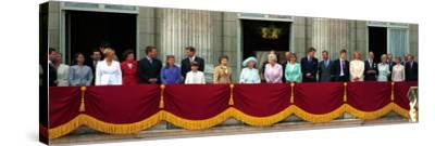 Royal Family on Queen Mother's 100th Birthday, Friday August 5, 2000--Stretched Canvas Print