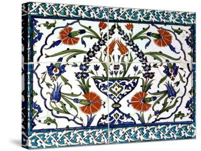 Iznik Tiles Detail at Hunkar Kasri-Izzet Keribar-Stretched Canvas Print