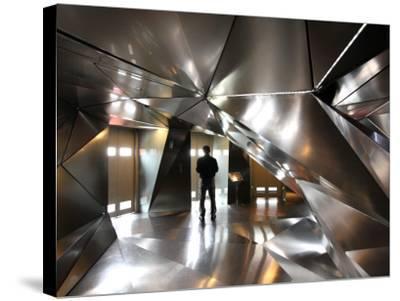 Elevator Lobby of 4th Floor of Hotel Puerta America-Bruce Bi-Stretched Canvas Print