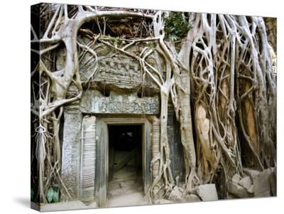 Angkor Thom Temple-Aldo Pavan-Stretched Canvas Print