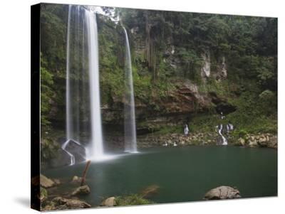 Misol-Ha Waterfall Near Palenque-Sean Caffrey-Stretched Canvas Print