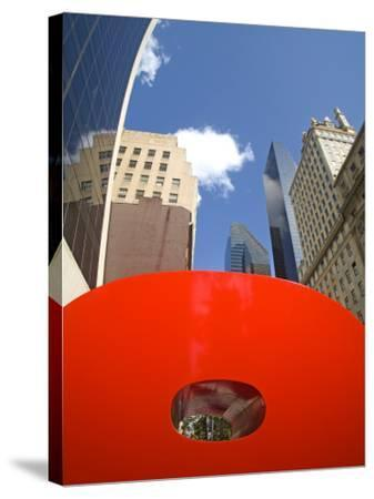 Red 9 Sculpture, Nine West 57th Street, Midtown Manhattan-Richard Cummins-Stretched Canvas Print