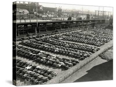 Rows of Cars in Parking Lot, Aerial View, Philadelphia-H^ Armstrong Roberts-Stretched Canvas Print