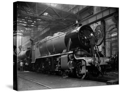 Railway Works--Stretched Canvas Print