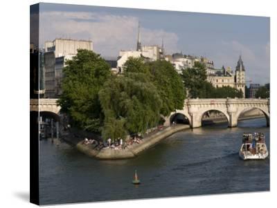 Ile De La Cite, Paris, France-Sergio Pitamitz-Stretched Canvas Print