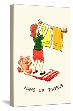 Hang Up Towels--Stretched Canvas Print