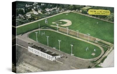 Elyria, Ohio - Aerial View of William A. Ely Stadium-Lantern Press-Stretched Canvas Print