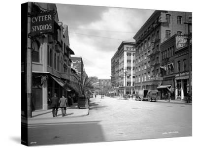 Spokane Street, 1911-Asahel Curtis-Stretched Canvas Print