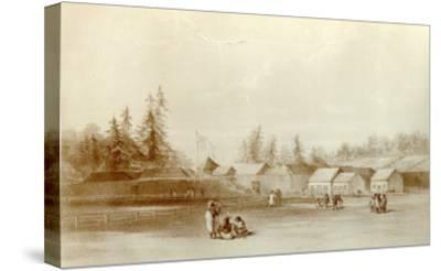 Fort Vancouver, 1845-Henry Warre-Stretched Canvas Print