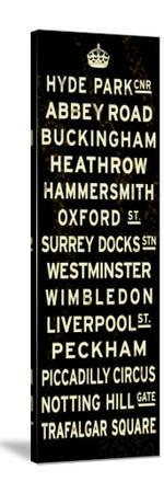 London Crown Sign--Stretched Canvas Print
